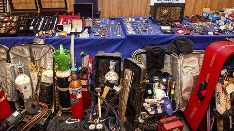Espectacular el arsenal de herramientas intervenidas a una banda de butroneros en Madrid