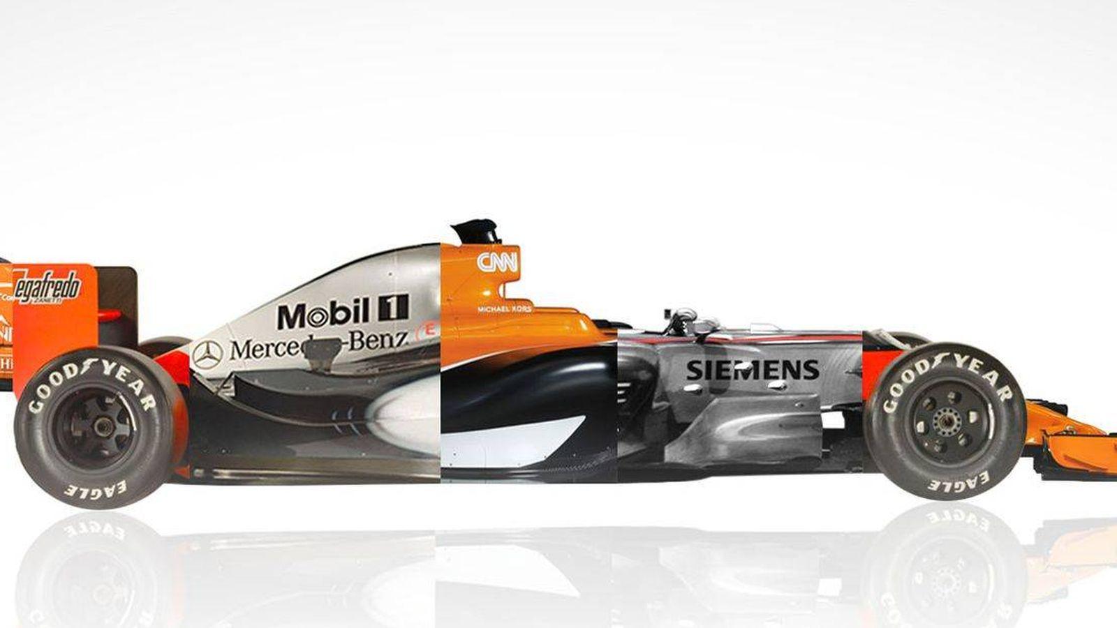 Foto: La imagen del McLaren a medio camino entre dos décadas que ha publicado la escudería en su web. (Foto: McLaren)