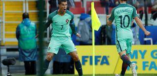 Post de A Cristiano no le afecta su tormenta y acerca a Portugal a semis con un gol