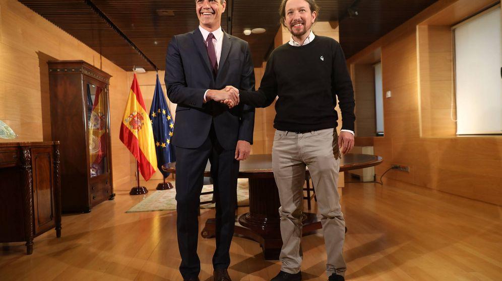 Foto: Pedro Sánchez y Pablo Iglesias. (Inma Mesa | PSOE)