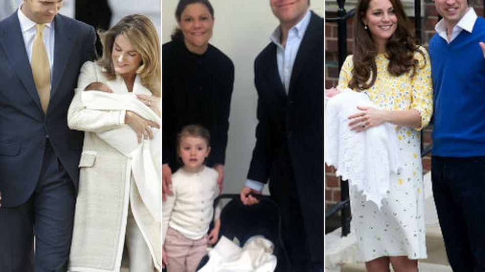 Del récord de Kate a la semana de Letizia: así abandonaron las mamás reales el hospital