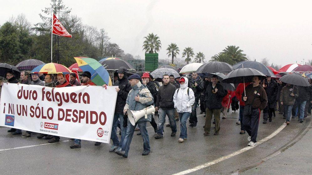 Foto: Fotografía de archivo de una manifestación de trabajadores de Duro Felguera. (EFE)