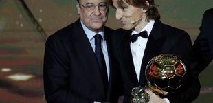 Post de Las carcajadas de Florentino Pérez por el Balón de Oro a Modric