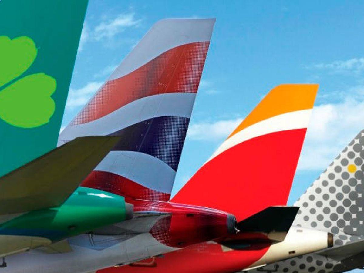 Foto: Logos de las cuatro compañías de IAG.