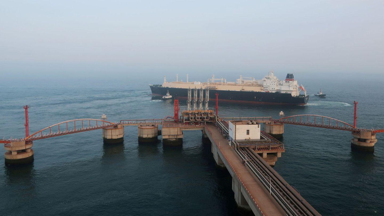 Transporte marítimo de gas natural en la provincia de Liaoning, en China. foto: Reuters
