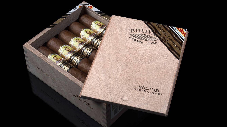 Foto: Las EdicionesBolívar Soberano se presentan en la clásica caja corredera de la marca (SLB) con 10 unidades a un precio de 160 euros. (16€ el cigarro)