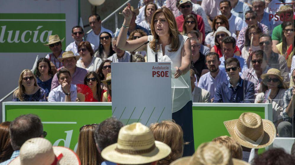 Foto: La secretaria general del PSOE de Andalucía y presidenta en funciones del Gobierno andaluz, Susana Díaz (EFE)