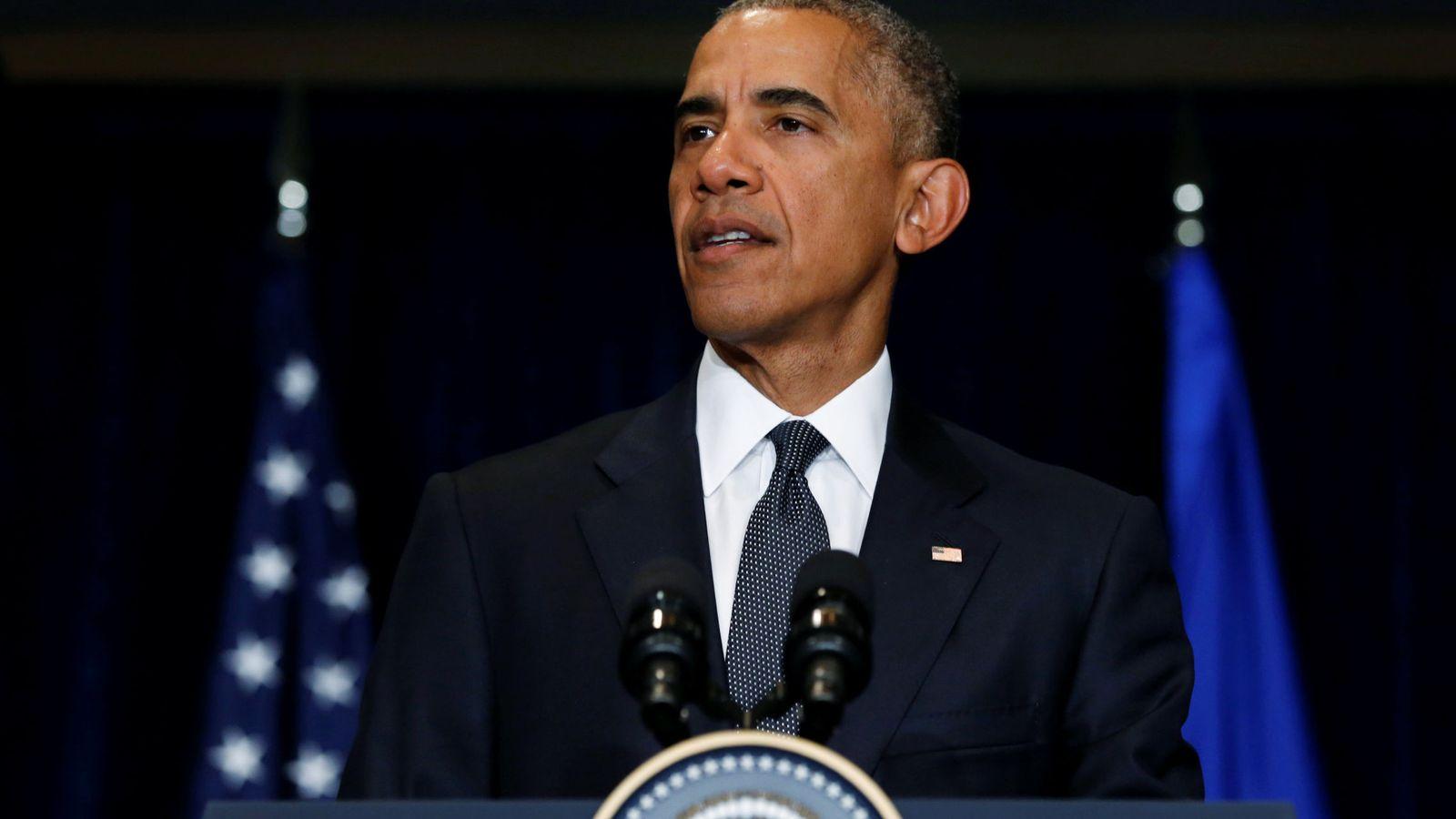 Foto: Obama analizó desde Varsovia lo sucedido en Texas (Reuters).