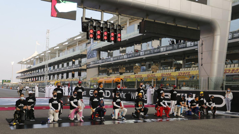 No todos los pilotos mantuvieron la misma postura ante la campaña contra el racismo de la F1. Este año se ampliarán las causas en la parrilla