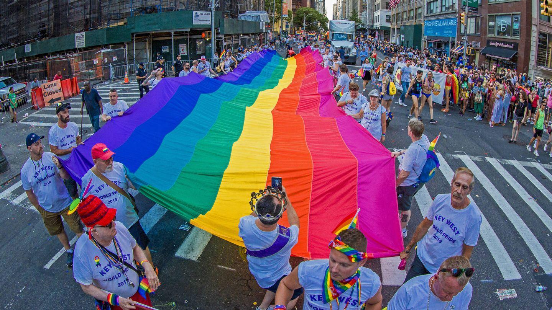 Celebraciones por el World Pride en Nueva York en 2019. (Getty)