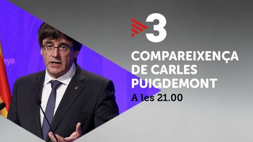 Foto: Promo del mensaje del 'president' en TV3.