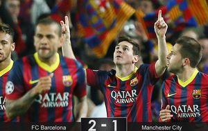 Un aseado Barça recupera la sonrisa ante el City con el 'piloto automático'