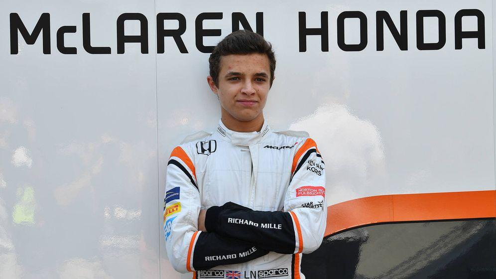Foto: Lando Norris en los test post GP de Hungría. (McLaren)