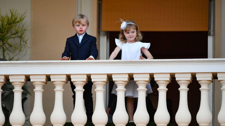 Jacques y Gabriella, en el balcón de palacio. (Palais Princier)
