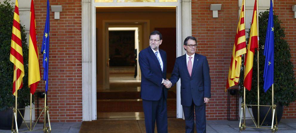 Foto: El cara a cara de Rajoy y Mas