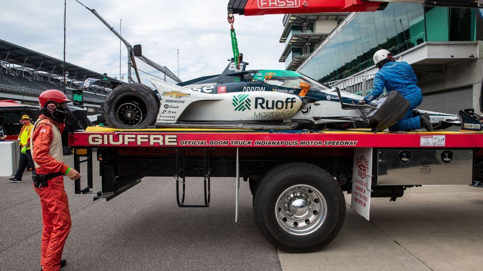 El accidente de Fernando Alonso que frenó en seco su gran ritmo en Indianápolis