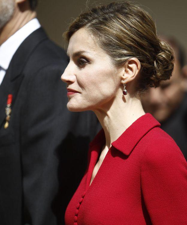 Foto: Doña Letizia a su llegada a la Universidad de Alcalá