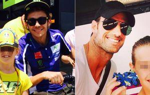 Naia, hija de Aitor Ocio, fan número uno de Valentino Rossi