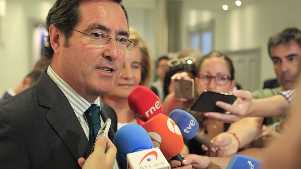 Foto: El presidente de la patronal de la pequeña y mediana empresa Cepyme, Antonio Garamendi
