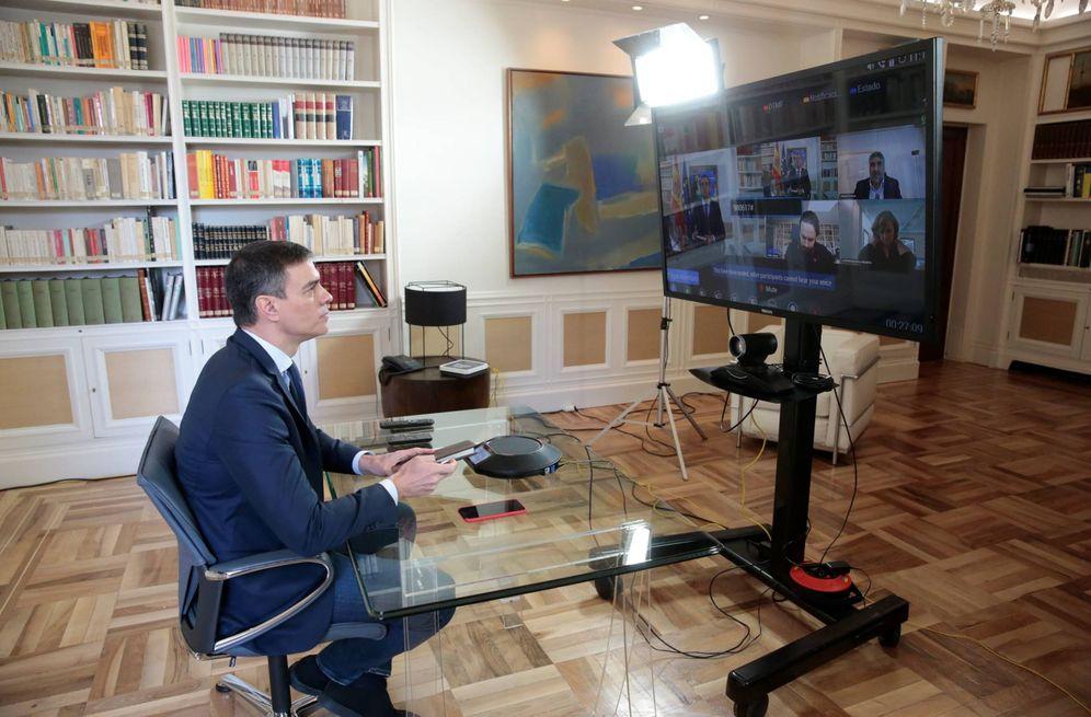 Foto: Pedro Sánchez preside la reunión interministerial del coronavirus, este 13 de marzo desde la Moncloa. (Pool Moncloa)