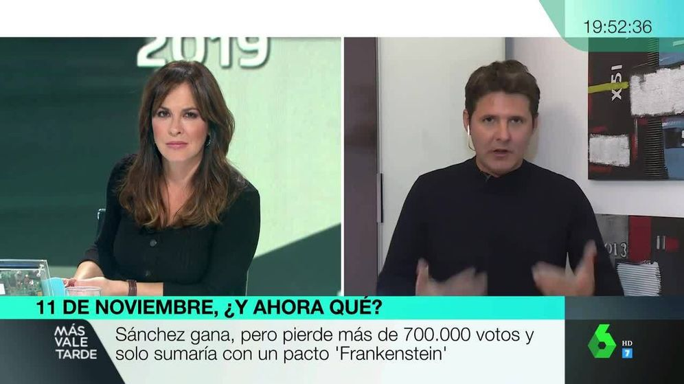 Foto: Jesús Cintora, en 'Más vale tarde'. (Atresmedia Televisión)
