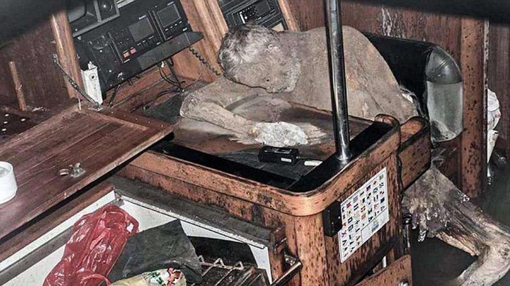 Foto: El cadaver de Manfred Fritz tal como lo encontró la policía filipina. (Barobo Police Station)