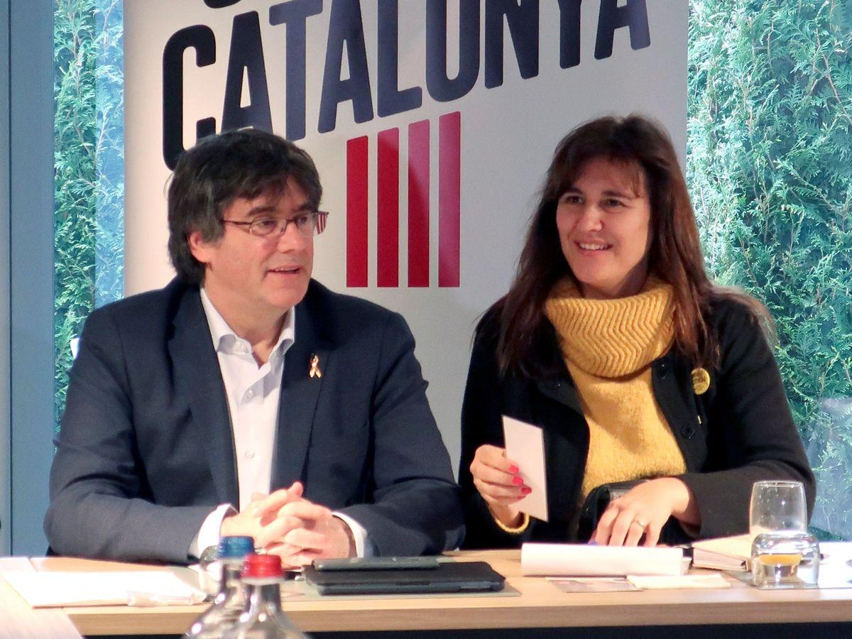 Foto: Carles Puigdemont y Laura Borràs. (EFE)