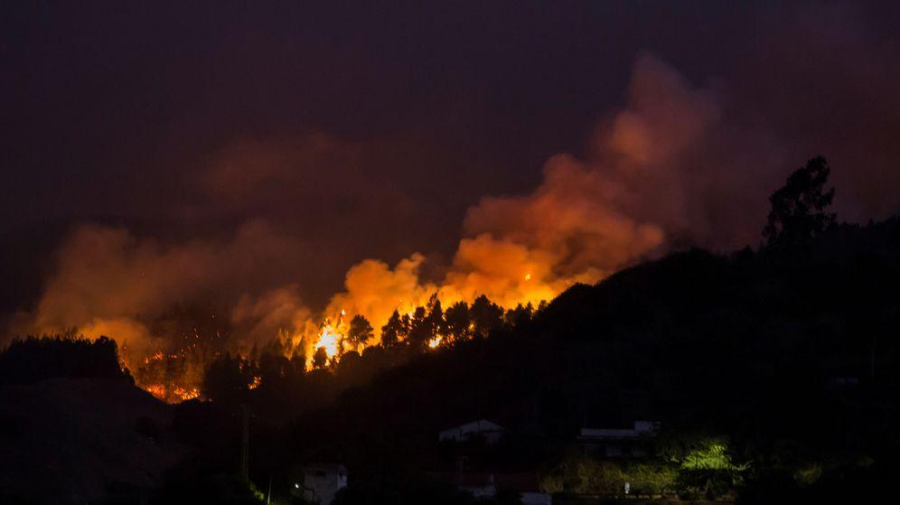 Foto: El fuego llega al enclave natural de Tamadaba. (Reuters)