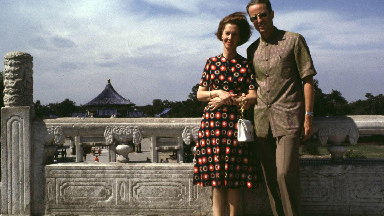 Los reyes Balduino y Fabiola de Bélgica, de viaje en China. (Getty)