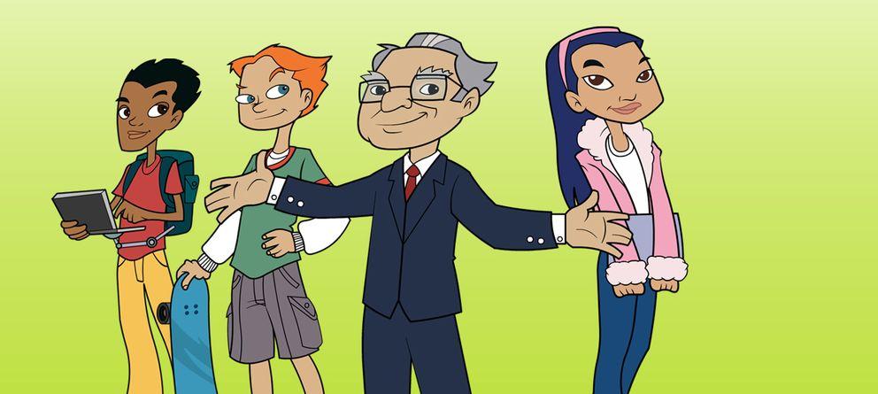 Foto: Buffett, caricaturizado para el programa infantil 'El club de los millonarios secretos'.