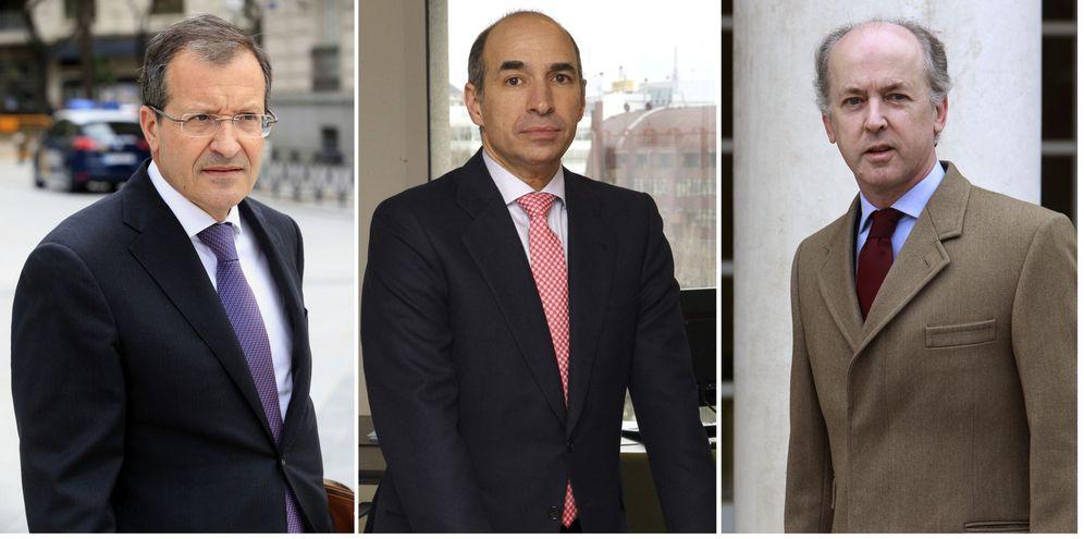 Foto: Fotos de archivo del presidente de Abengoa, Antonio Fornieles (i); el ex consejero delegado Manuel Sánchez Ortega (c), y el expresidente de la compañía Felipe Benjumea (d)