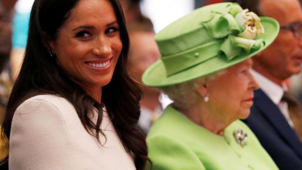 Foto: La reina Isabel y Meghan Markle, en una imagen de archivo. (Reuters)