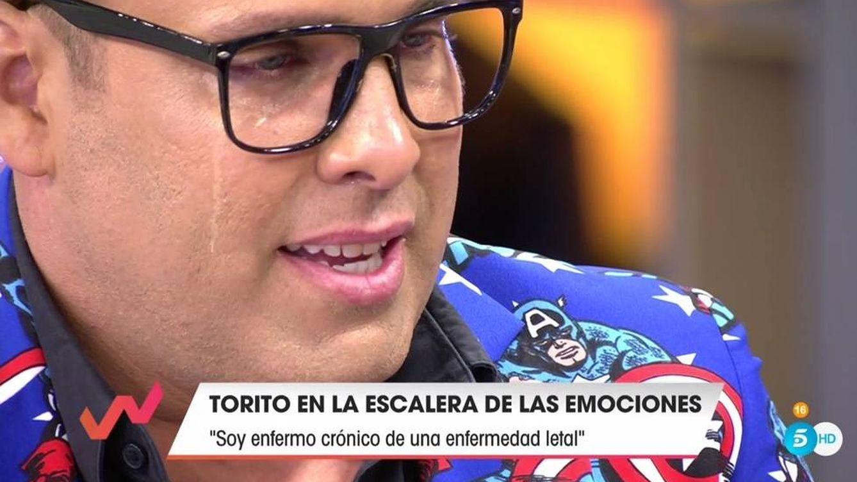 'Viva la vida': Torito se rompe en directo al hablar con Emma García sobre su enfermedad letal