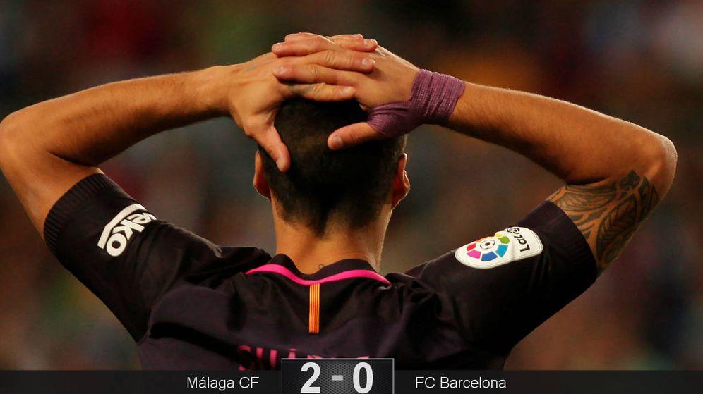 Foto: El Barcelona sufrió un grave tropiezo en Málaga y no aprovechó el pinchazo del Real Madrid. (Reuters)
