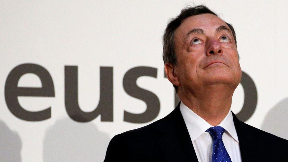 Foto: El presidente del Banco Central Europeo, Mario Draghi, en su última visita a España. (EFE)