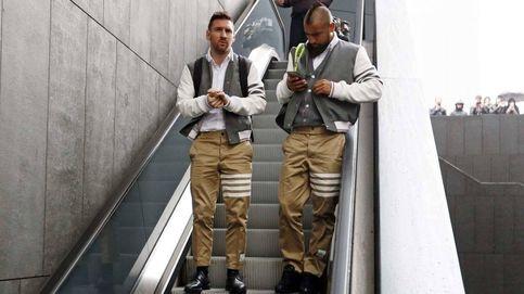 El primer gol del Barcelona ante el Atlético: los trajes con los que han viajado a Madrid
