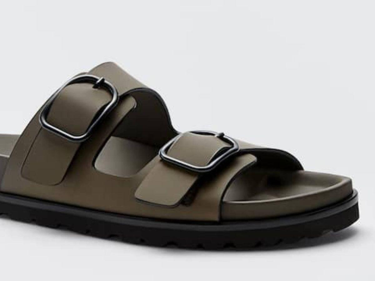 Foto: Las sandalias planas de Massimo Dutti. (Cortesía)