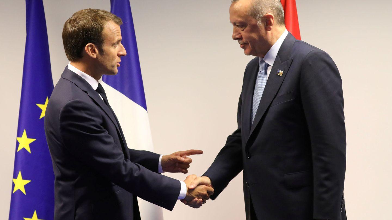 Emmanuel Macron y Tayyip Erdogan. (Reuters)