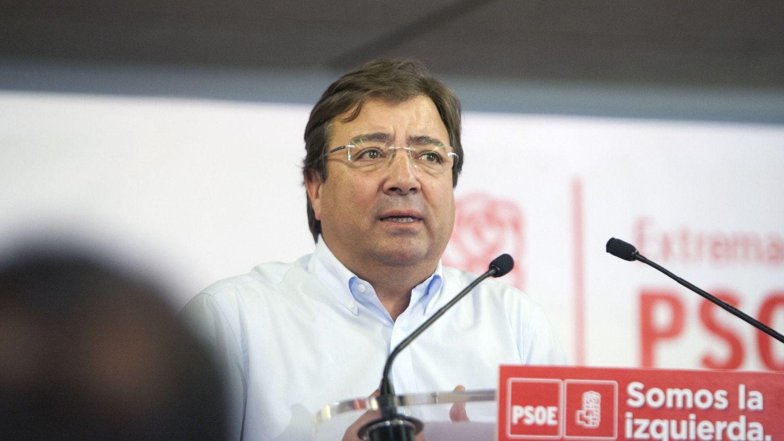 Foto:  El secretario general del PSOE extremeño y presidente de la Junta de Extremadura. (EFE)