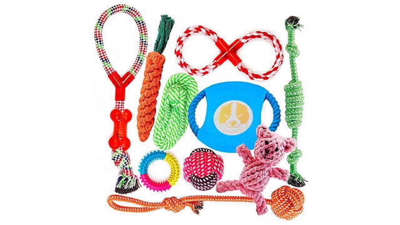Conjunto de juguetes para perros de Fonpoo