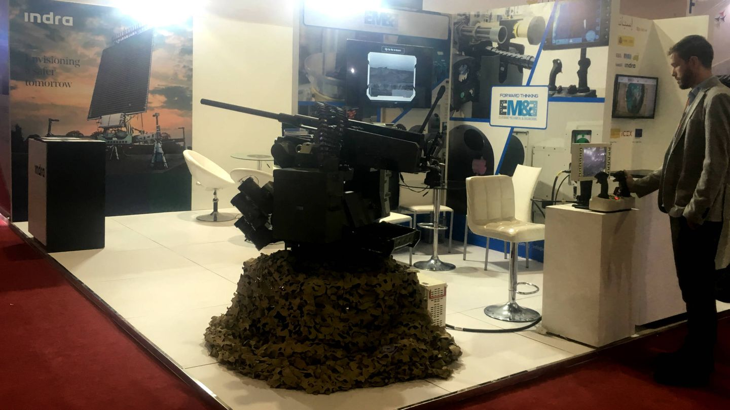 El sistema de armamento teledirigido desarrollado por la firma española Escribano. (N. Tesón)