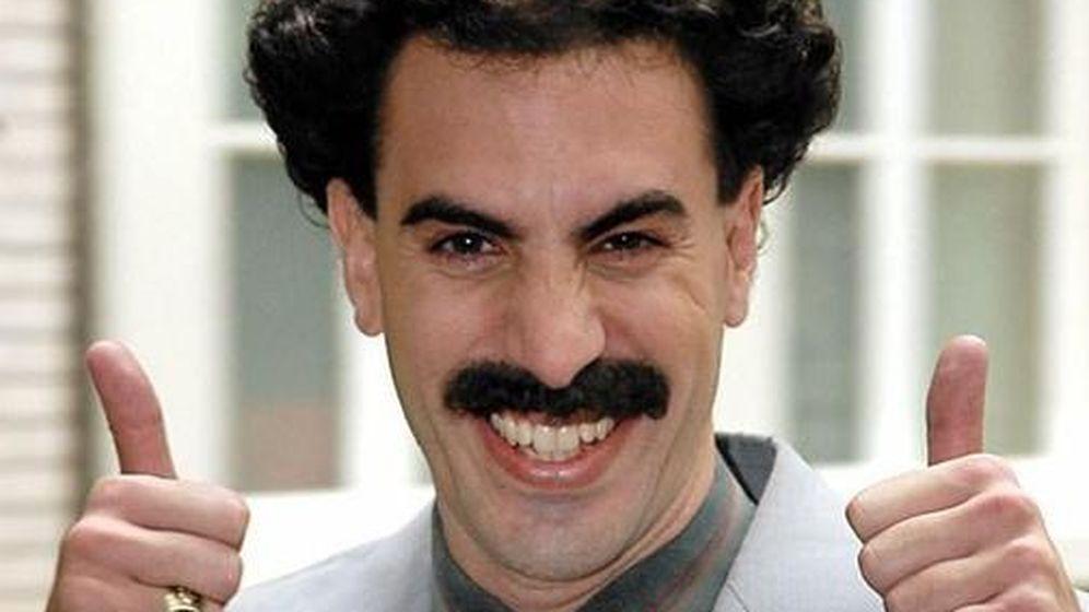 Foto: Sacha Baron Cohen caracterizado como Borat.