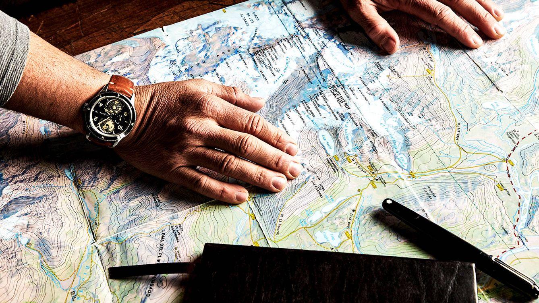 Foto: En la expedición por la Patagonia, Chris Burkard llevaba un Montblanc 1858 Geosphere