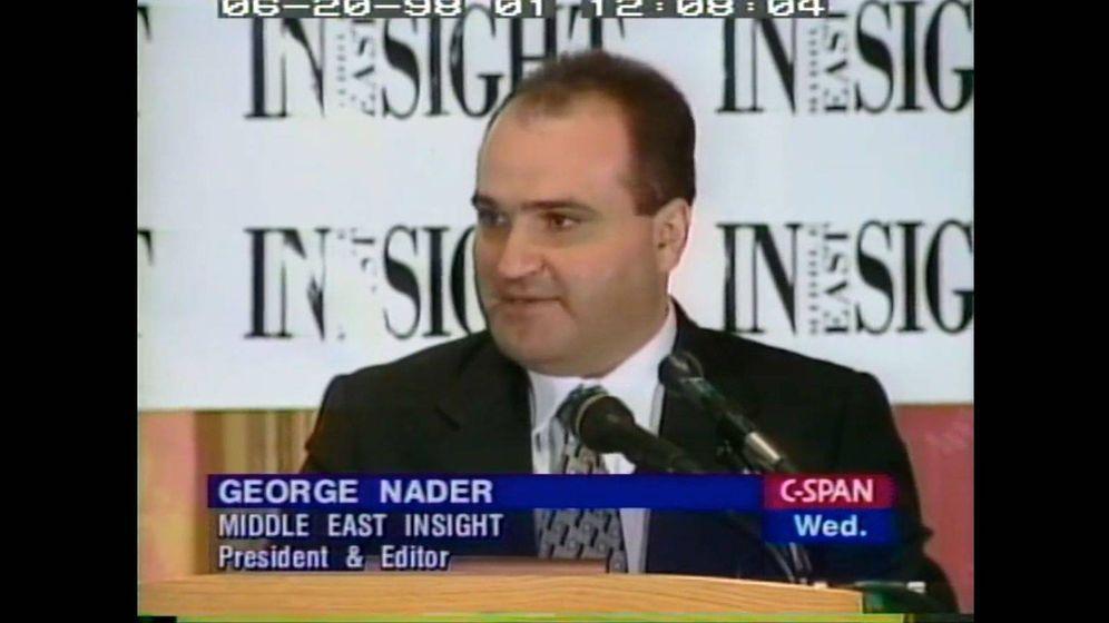 Foto: George Nader, en un fotograma de vídeo. (C-Span)