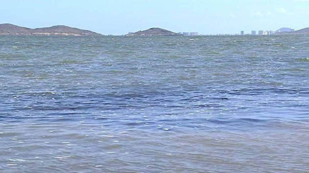Una 'sopa verde' de desechos y vertidos: así es el Mar Menor donde los bañistas no pueden aliviar su calor