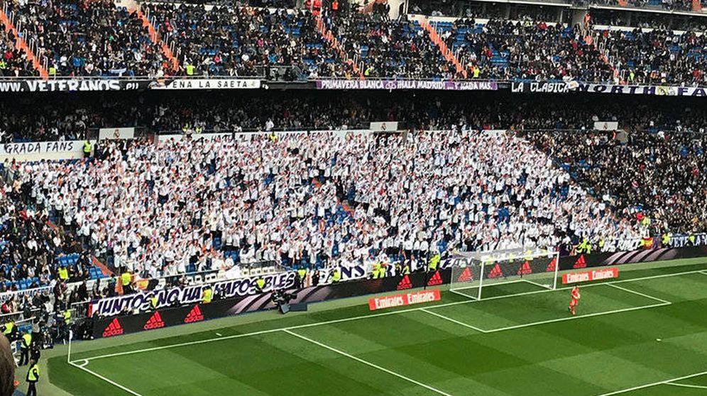 Foto: Imagen de la Grada FANS del Bernabéu durante un partido del Real Madrid.