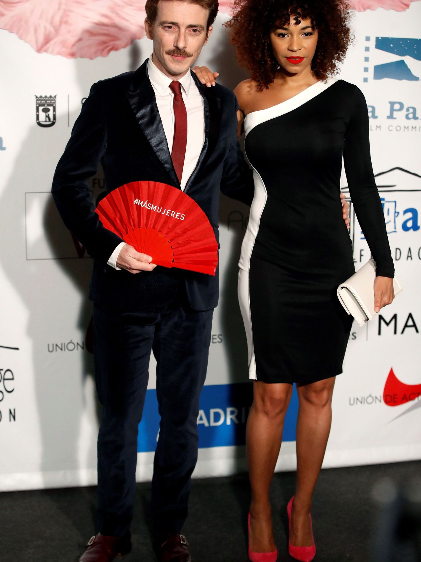 Los actores Víctor Clavijo y Montse Pla, en una gala. (EFE)