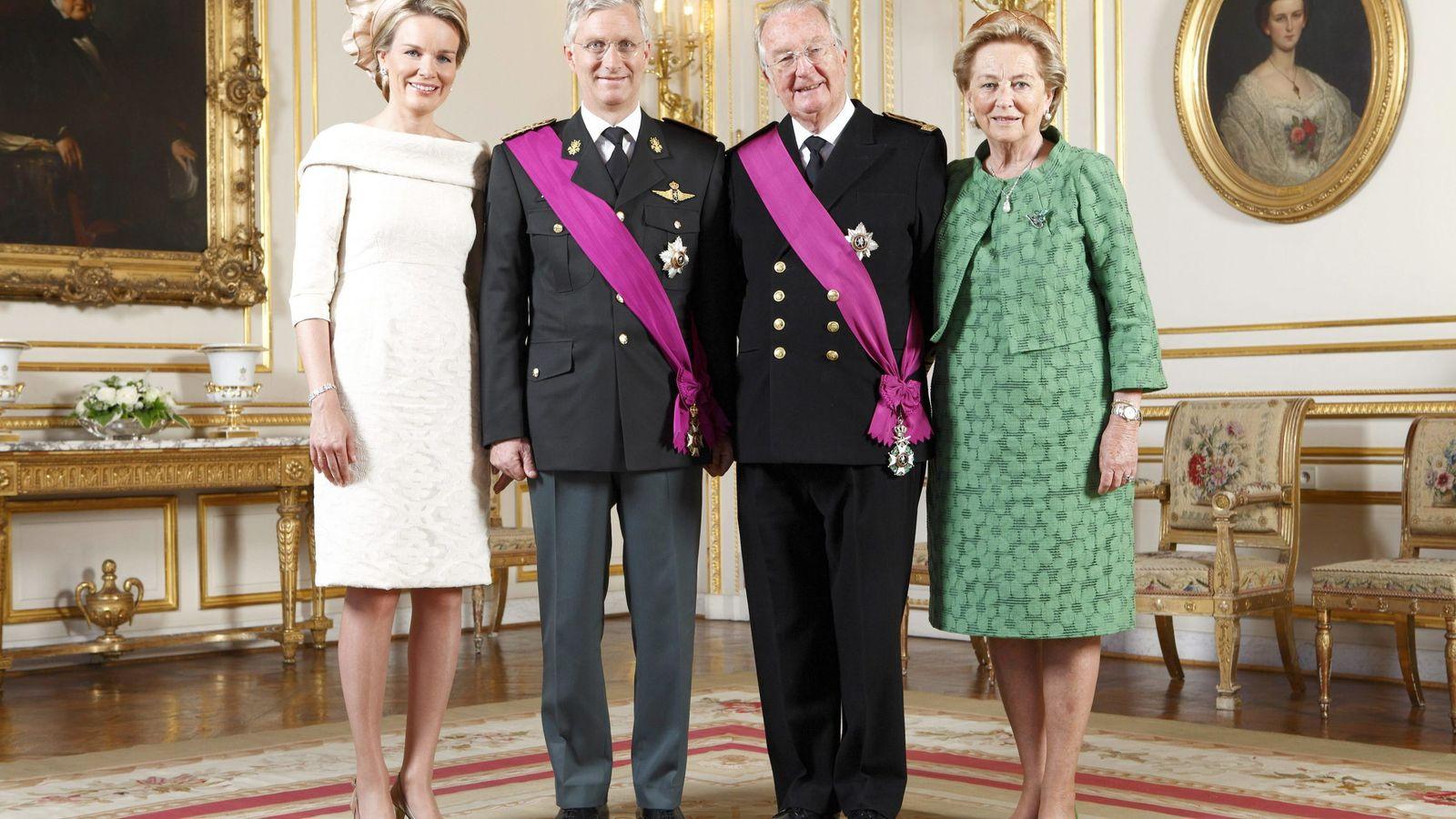 Foto: Alberto y Paola de Bélgica junto a Matilde y Felipe de Bélgica, en una imagen de archivo. (EFE)