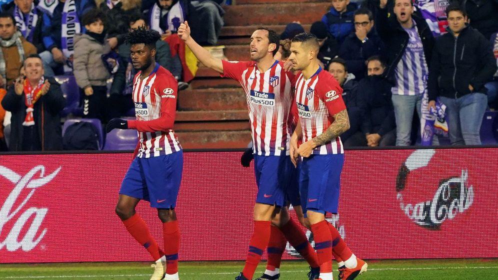 Foto: El Atlético de Madrid en un partido contra el Valladolid. (EFE)