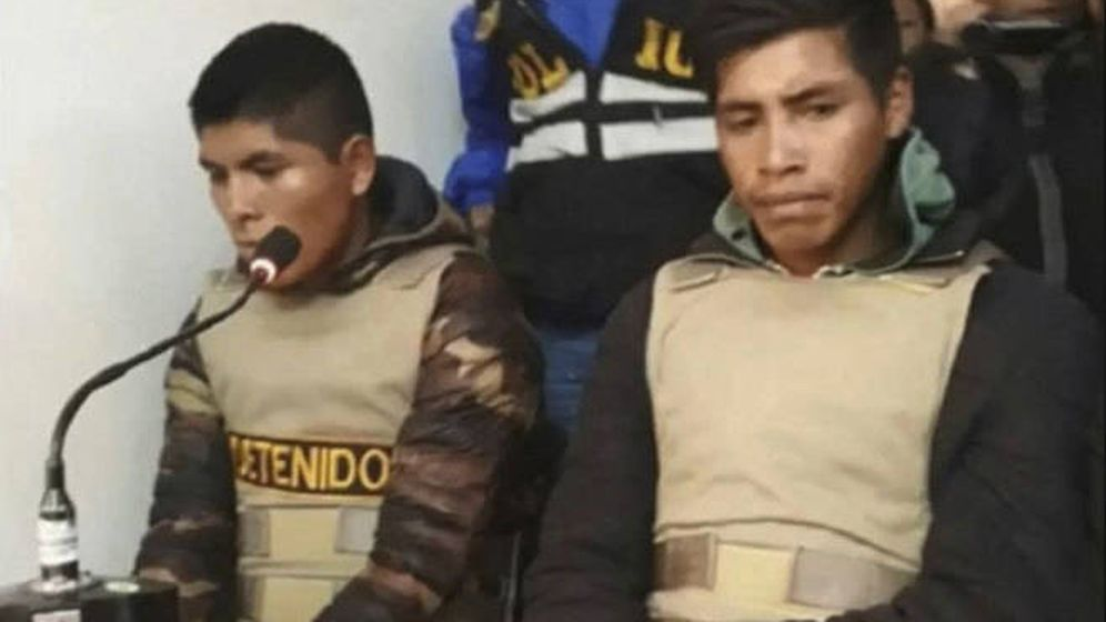 Foto: Jainor Huillca Huaman y Luzgardo Pillco Amau, los dos guías implicados en la desaparición de Nathaly Salazar.